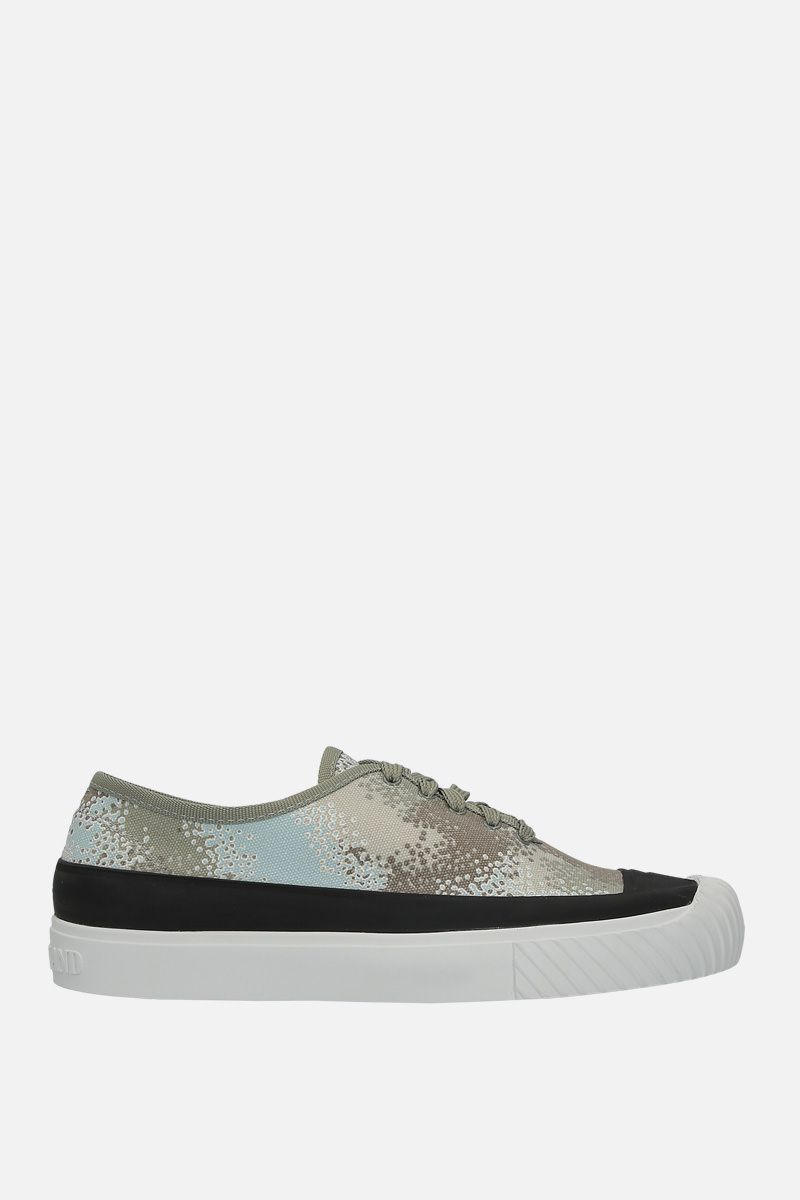 STONE ISLAND: sneaker low-top in canvas stampa grafica_1