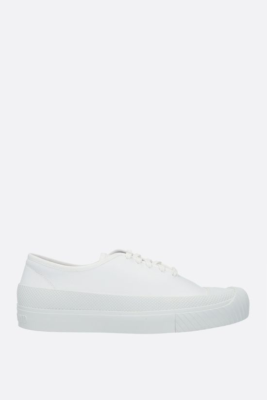 STONE ISLAND: smooth leather low-top sneakers Color White_1