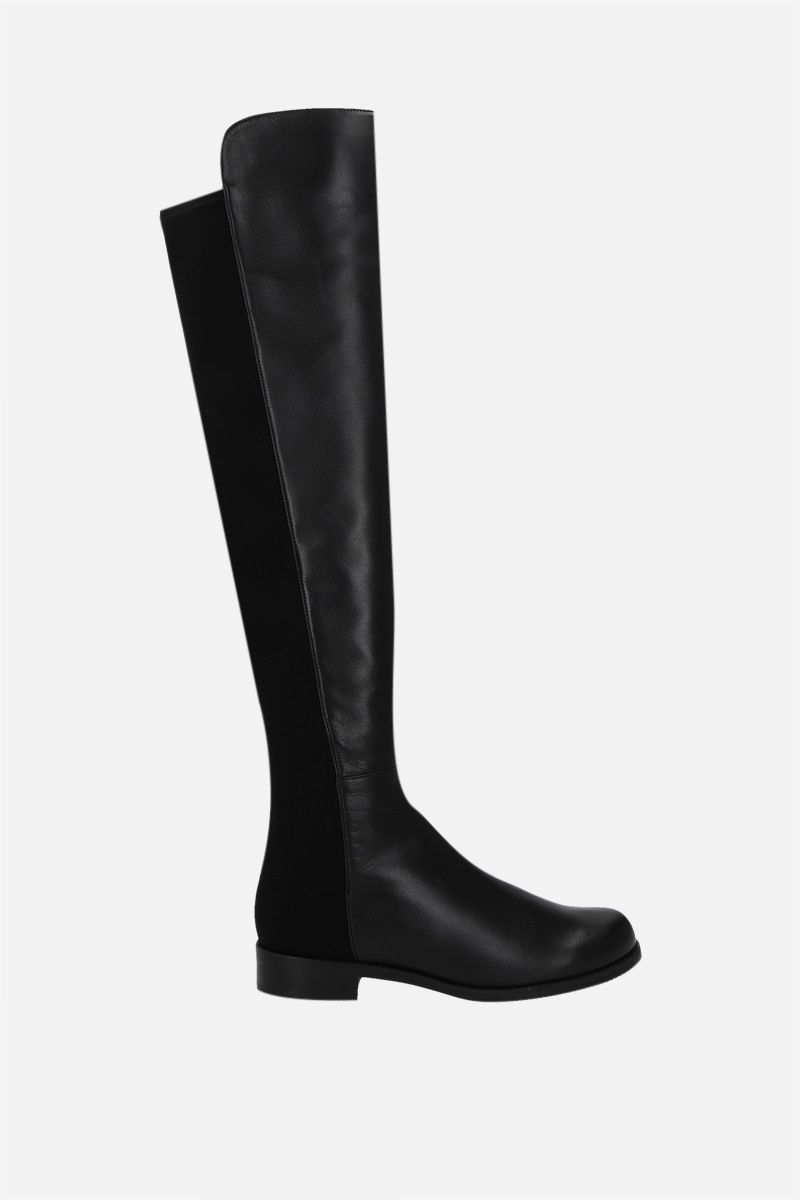 STUART WEITZMAN: 5050 nappa and stretch fabric over-the-knee boots Color Black_1