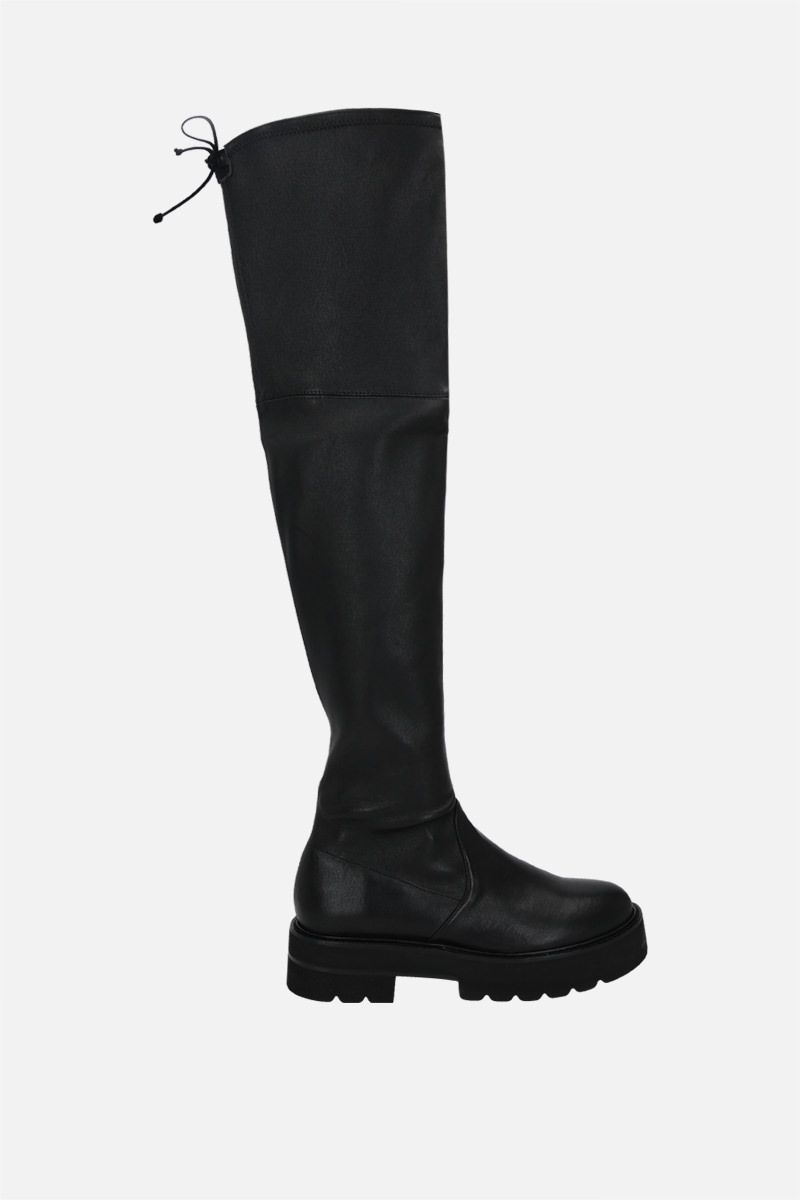 STUART WEITZMAN: Lowland Ultralift smooth leather over-the-knee boots Color Black_1