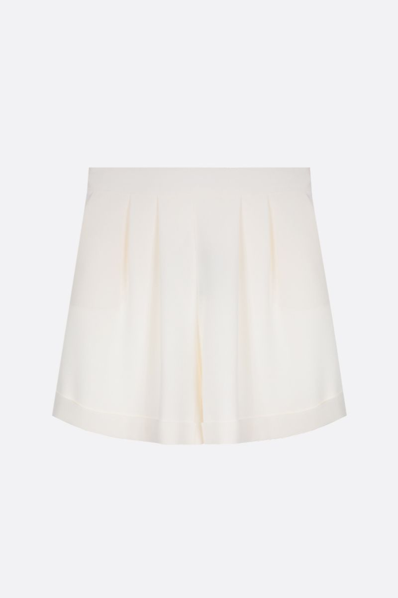 HEBE STUDIO: cady pleated shorts Color White_1