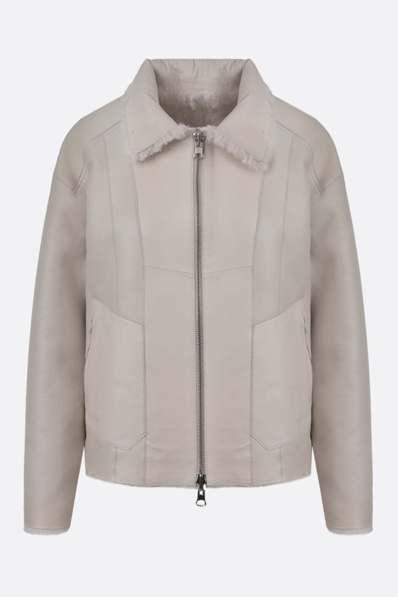 SYLVIE SCHIMMEL: Alto shearling reversible jacket Color White_2