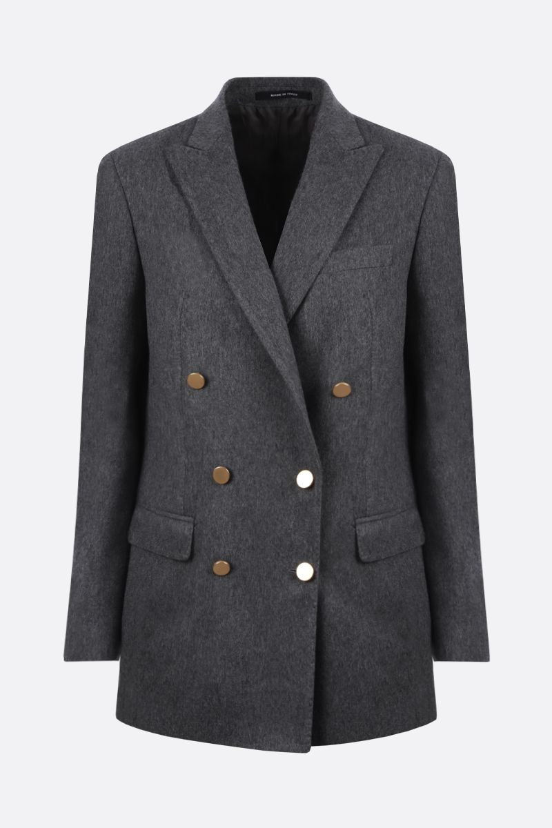 TAGLIATORE: Jasmine cashmere double-breasted jacket Color Grey_1