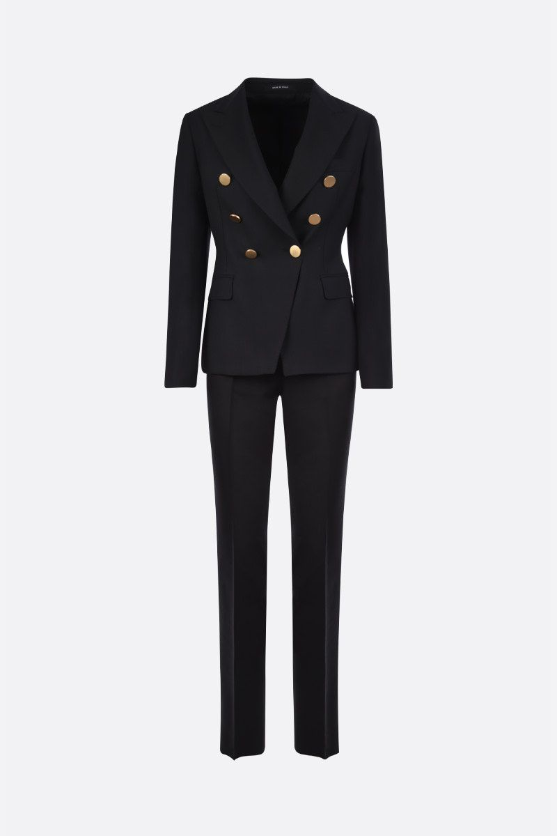 TAGLIATORE: Alicya wool blend two-piece suit Color Black_1