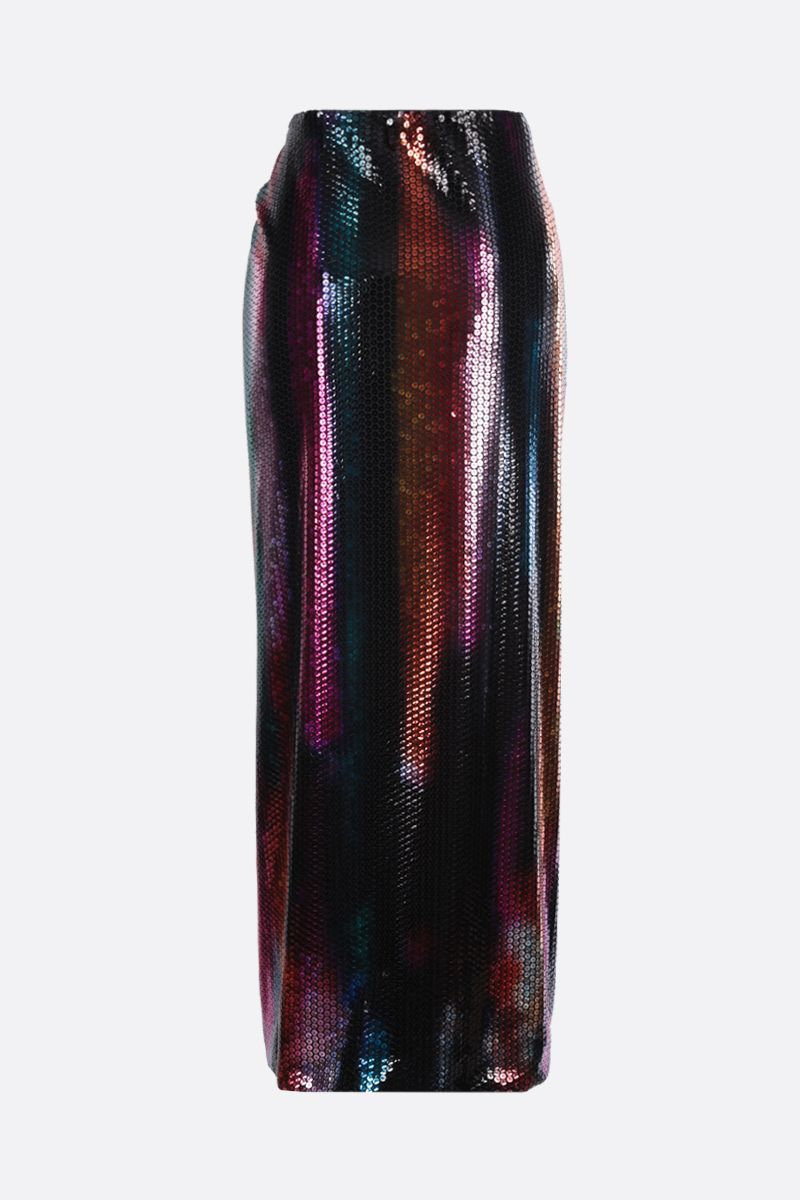 THE ATTICO: Joanna sequinned fabric long skirt Color Multicolor_2