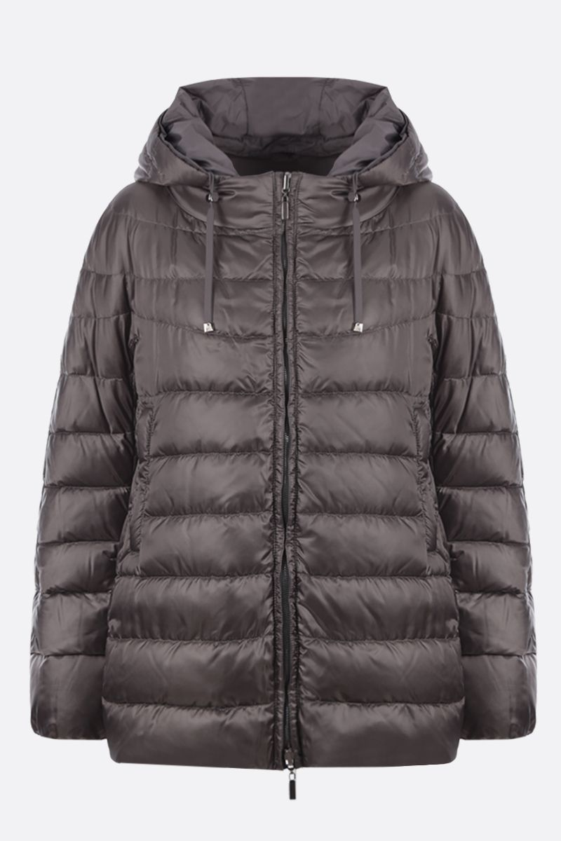 MAX MARA THE CUBE: 9CC down jacket in iridescent satin Color Silver_1