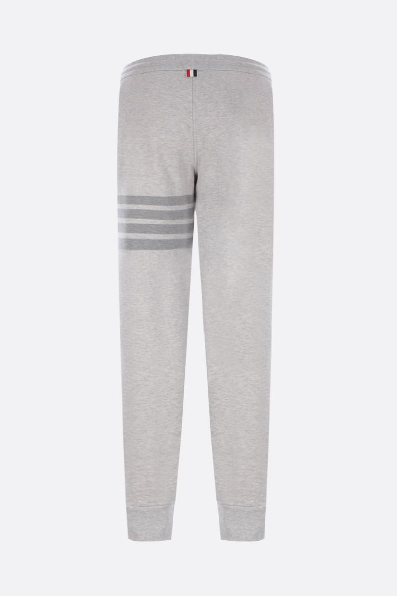 THOM BROWNE: 4-bar-detailed cotton joggers Color Grey_2