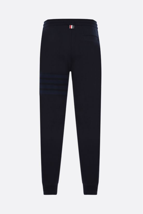 THOM BROWNE: 4-bar detailed sweatpants Color Blue_2
