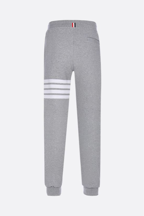 THOM BROWNE: 4-bar detailed cotton joggers Color Grey_2