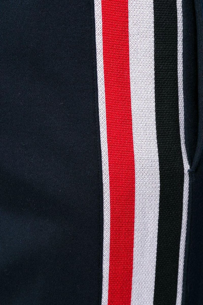 THOM BROWNE: tricolour bands-detailed cotton joggers Color Blue_2