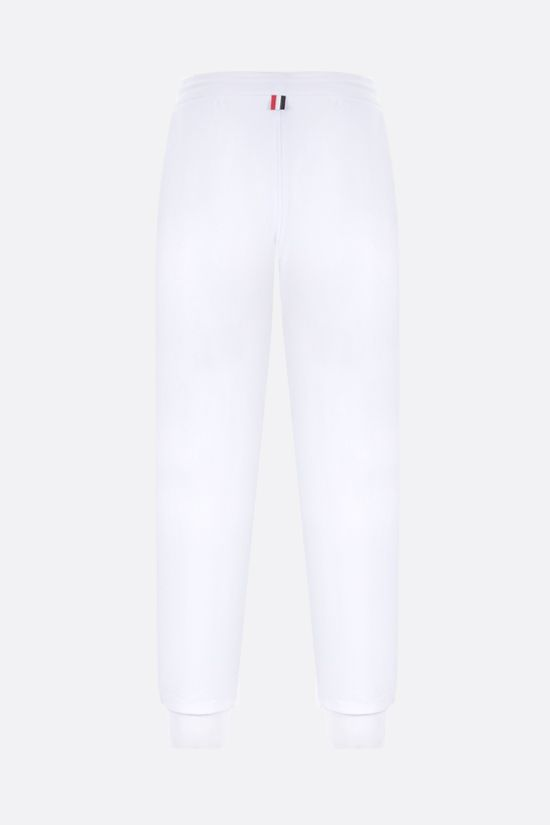 THOM BROWNE: tricolour-detailed cotton joggers Color White_2