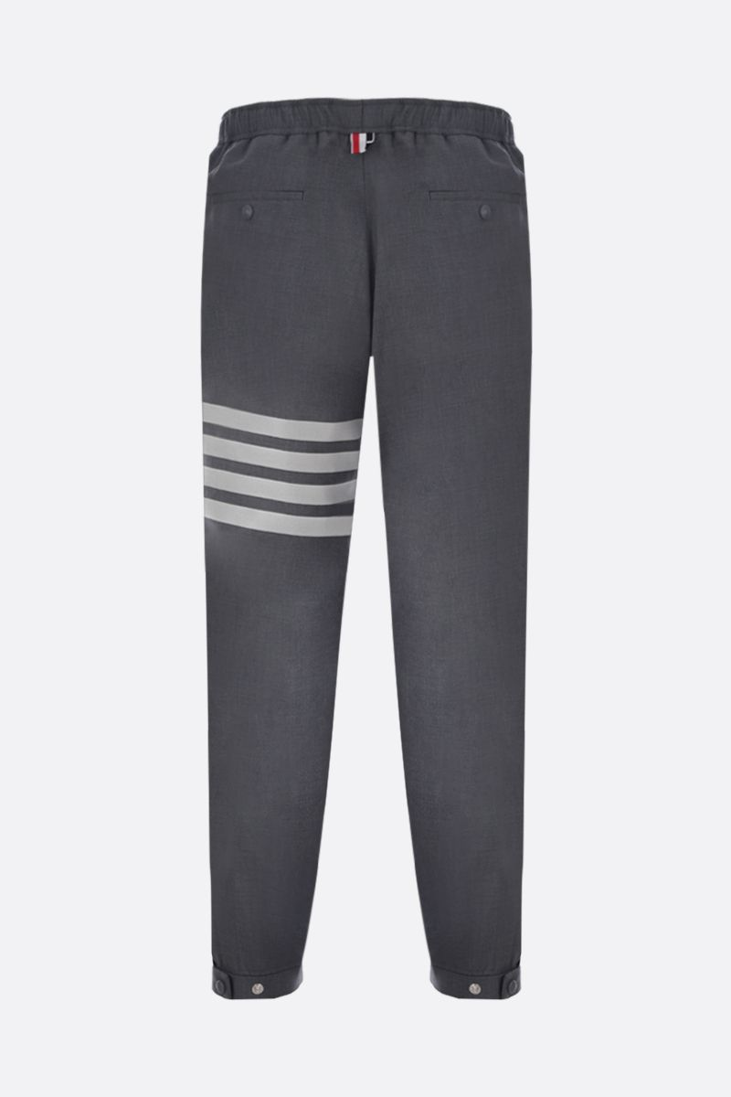 THOM BROWNE: lightweight wool joggers Color Grey_2