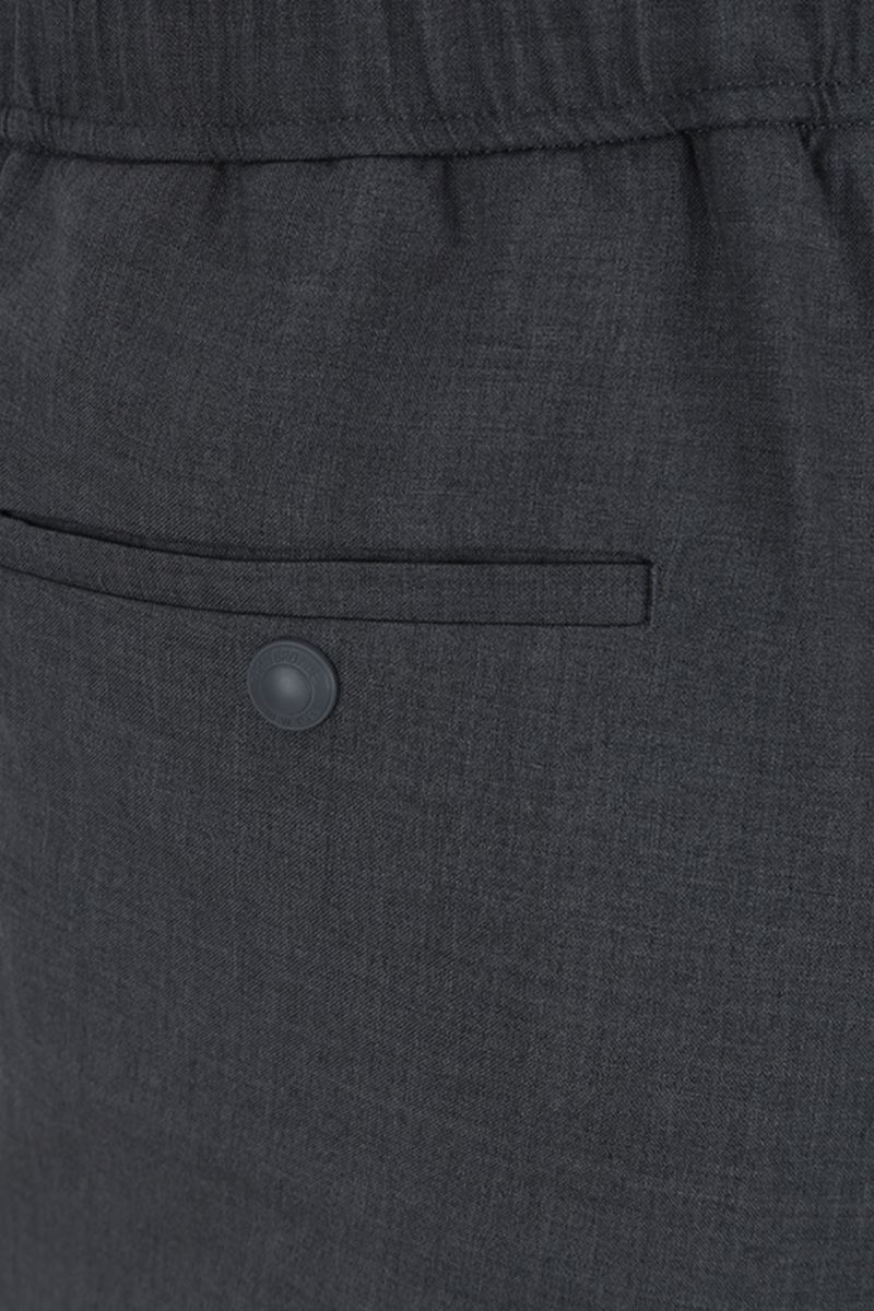 THOM BROWNE: lightweight wool joggers Color Grey_4