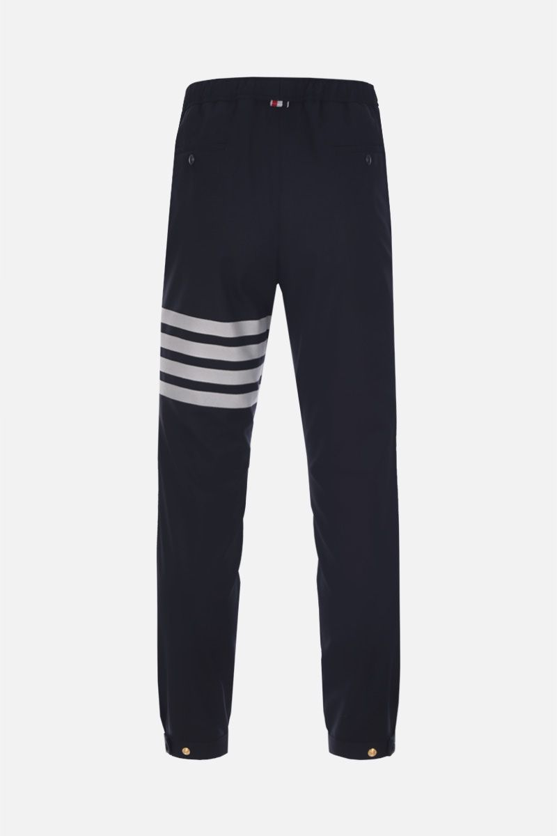 THOM BROWNE: lightweight wool joggers Color Blue_2