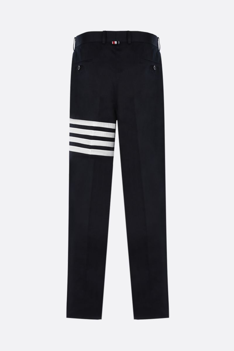 THOM BROWNE: twill chino pants with 4-Bar stripe Color Blue_2