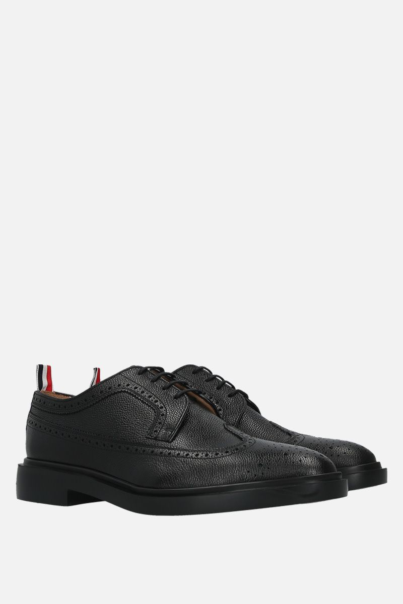 THOM BROWNE: Pebble Grain derby shoes Color Black_2