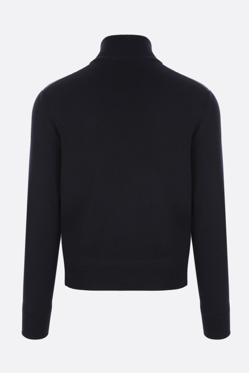 TOM FORD: full-zip knit jacket with down insert Color Blue_2