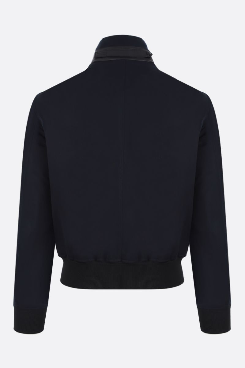 TOM FORD: cotton silk blend bomber jacket Color Blue_2