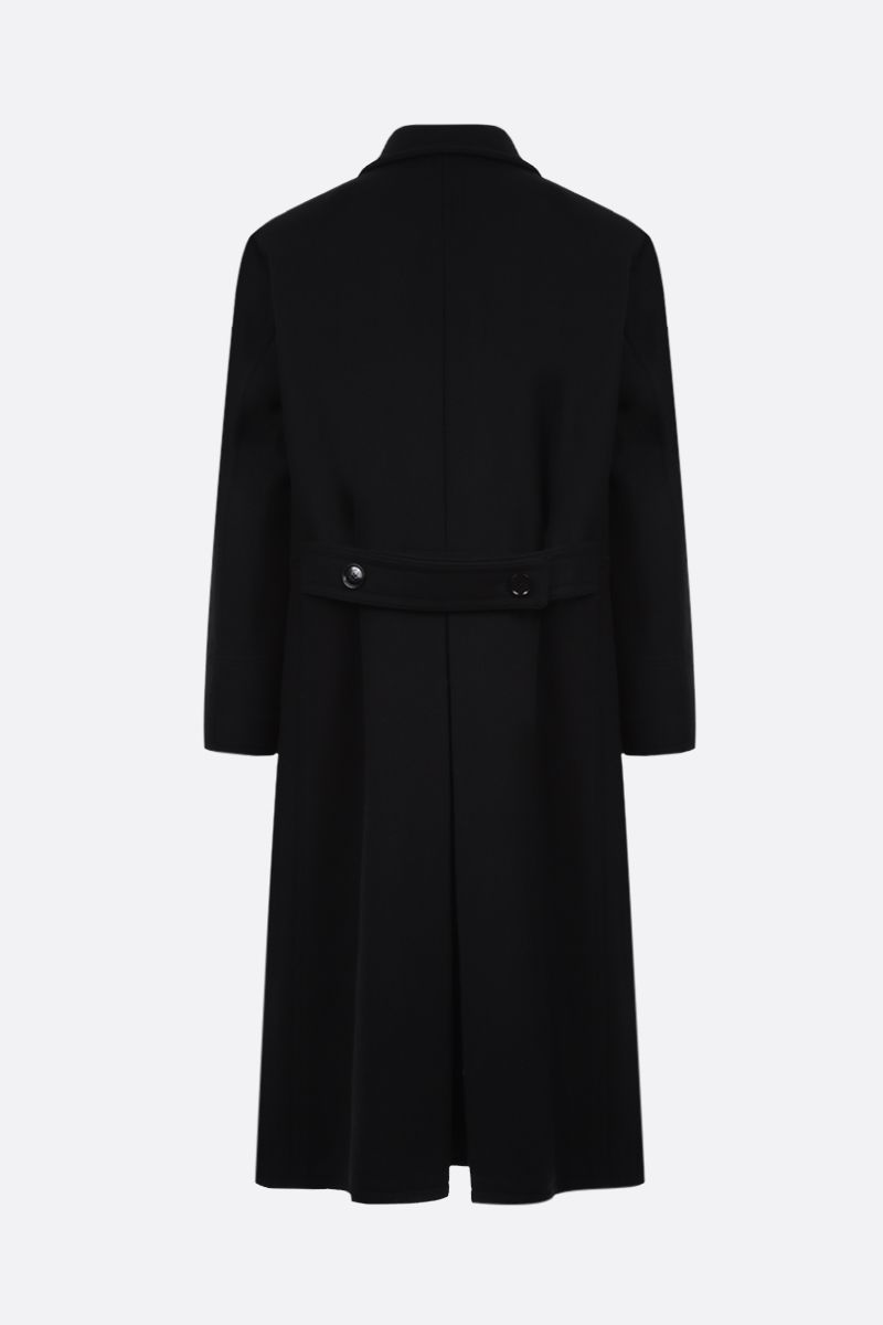 TOM FORD: double-breasted wool cashmere blend coat Color Black_2