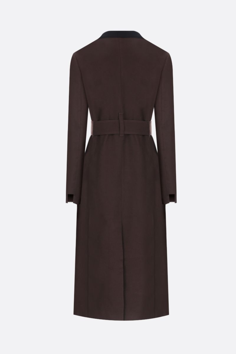 TRE by NATALIE RATABESI: single-breasted coat in cotton wool blend Color Brown_2