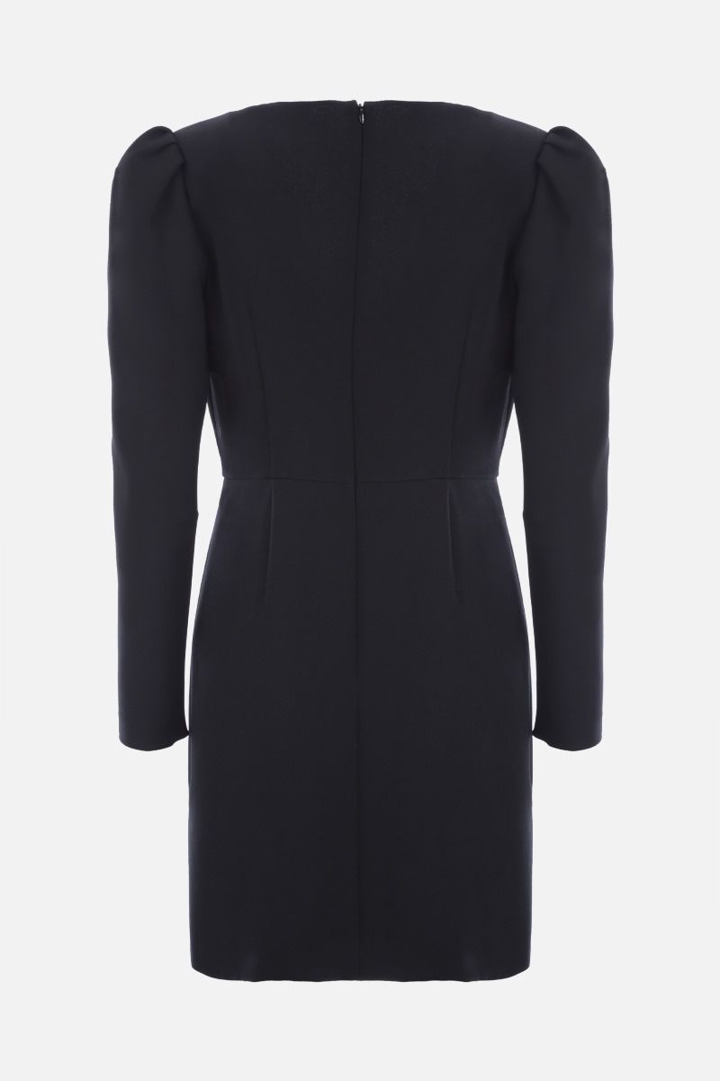 RED VALENTINO: stretch double crepe wrap dress Color Black_2