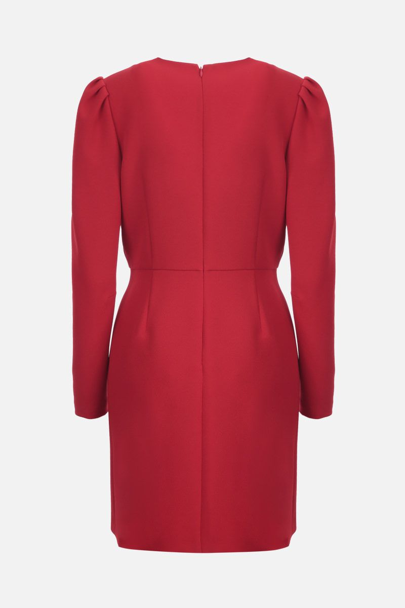 RED VALENTINO: stretch double crepe wrap dress Color Red_2