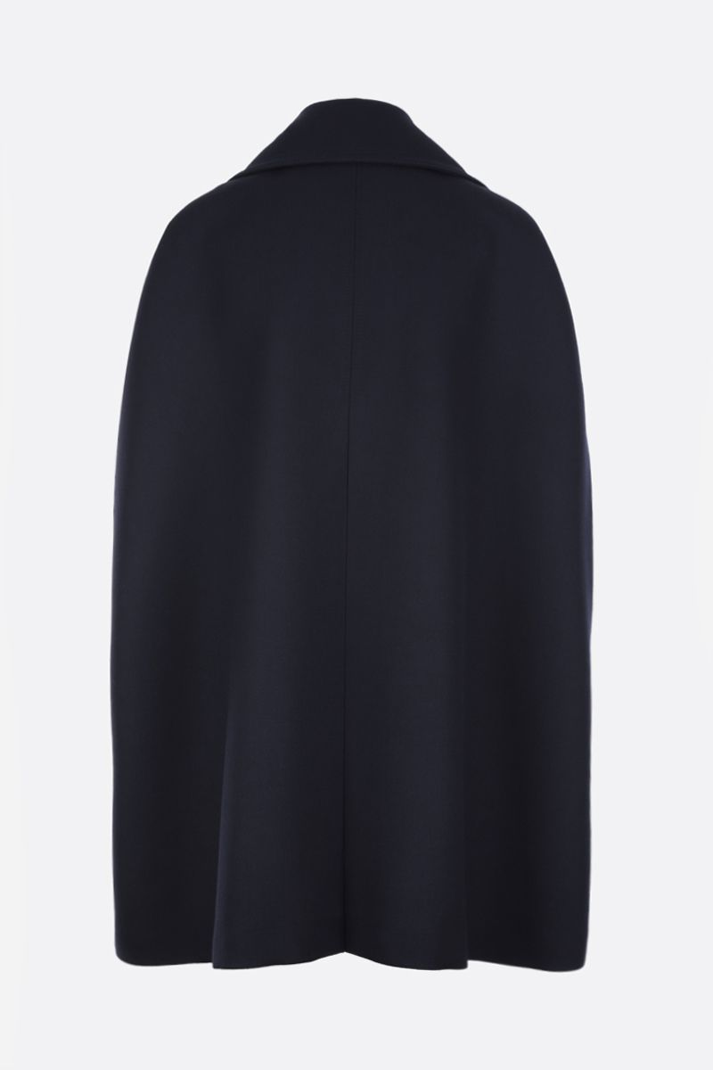 VALENTINO: Double Worsted wool cape Color Blue_2