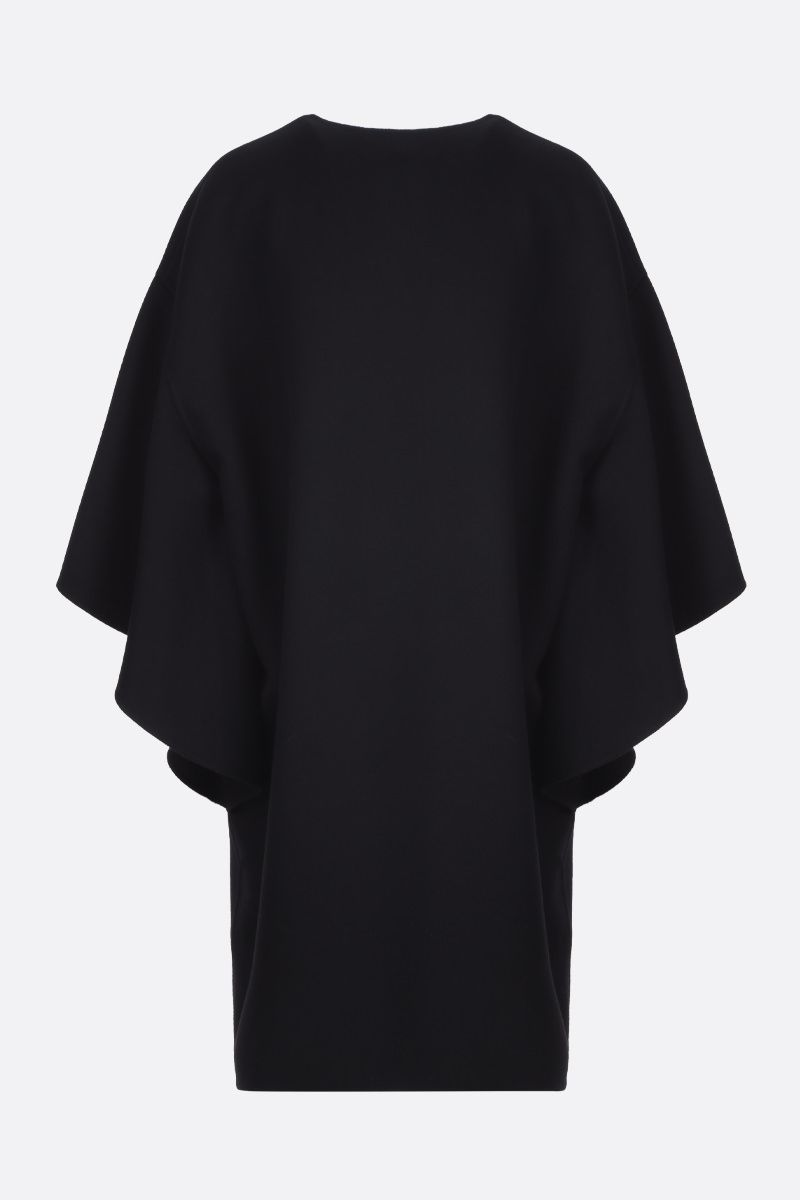 VALENTINO: wool cashmere blend cape Color Black_2