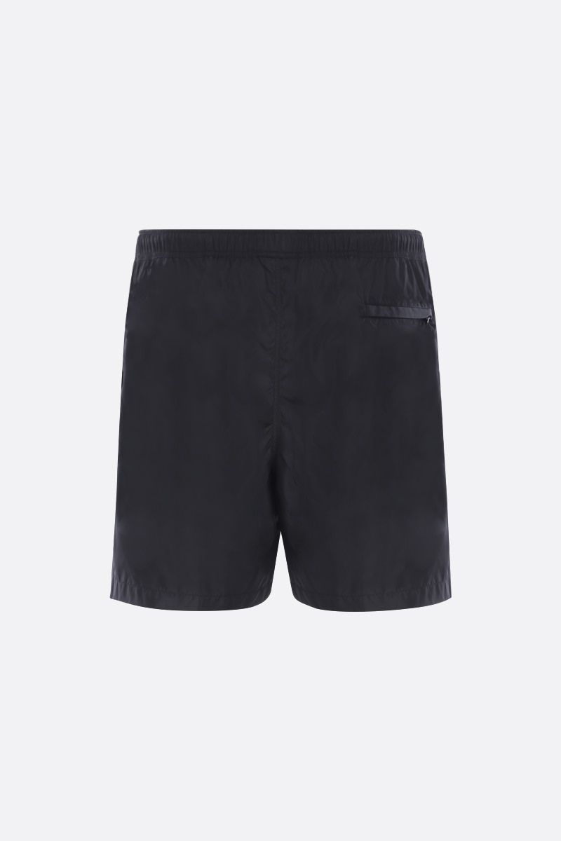 VALENTINO: VLTN TAG nylon swim shorts Color Black_2
