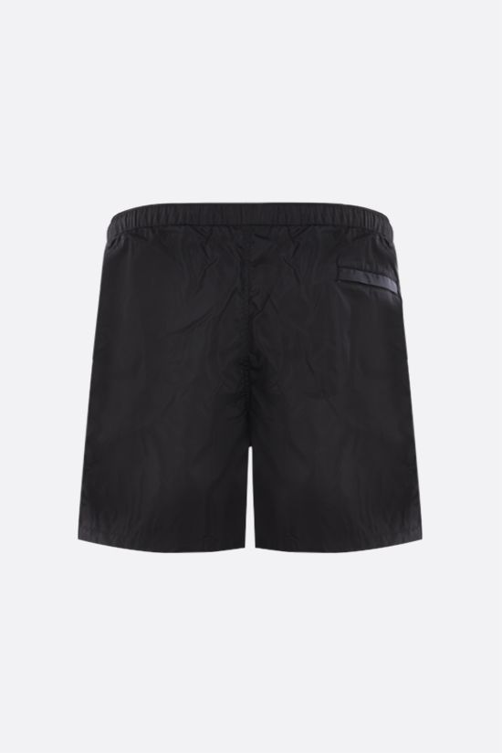 VALENTINO: VLTN Multicolor print nylon swim shorts Color Black_2