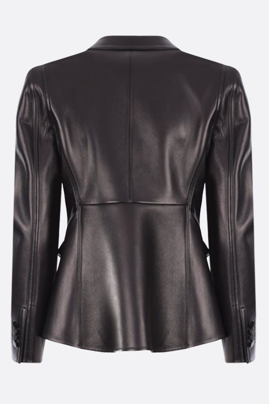 VALENTINO: single-breasted soft nappa jacket Color Black_2
