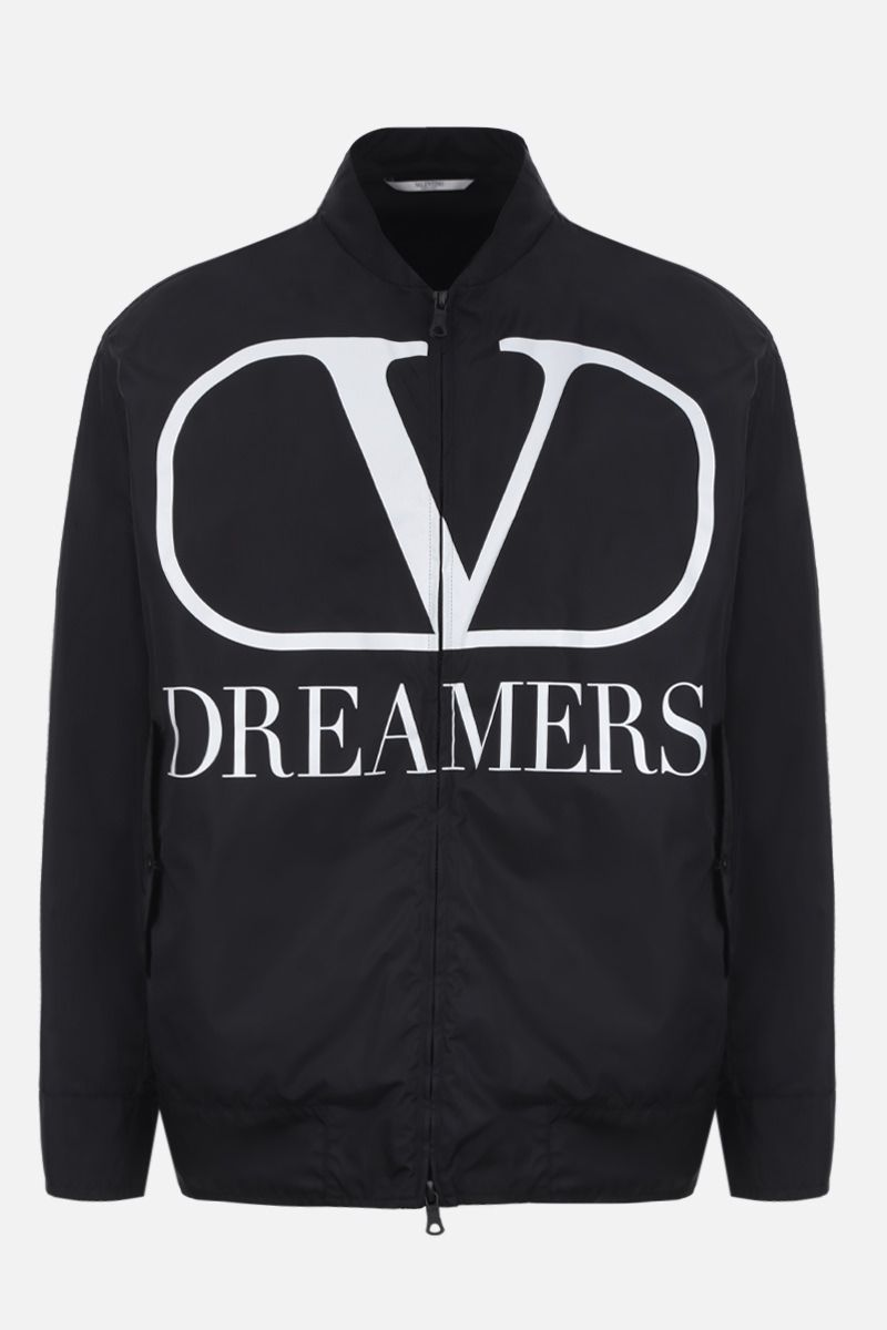 VALENTINO: VLOGO Dreamers nylon bomber jacket Color Black_1