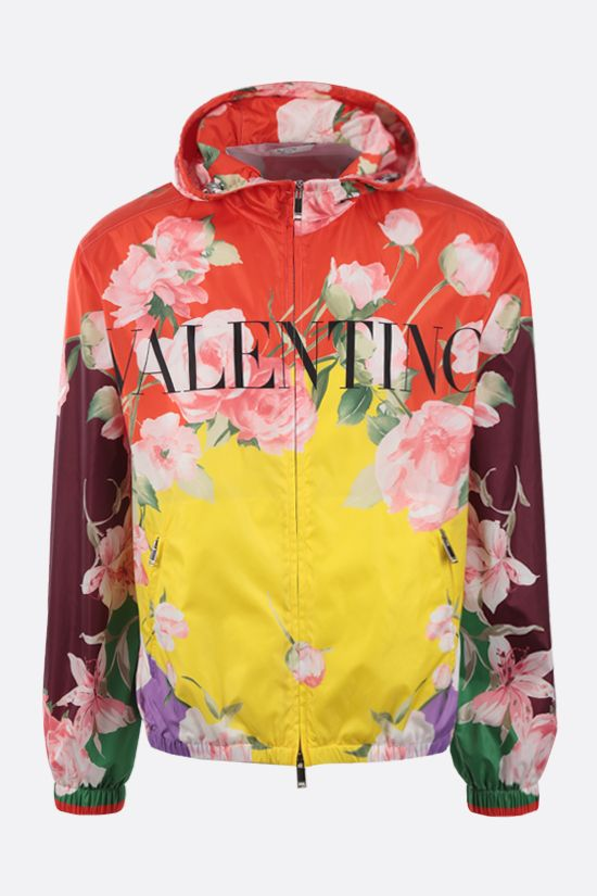 VALENTINO: Flying Flowers print nylon windbreaker Color Multicolor_1