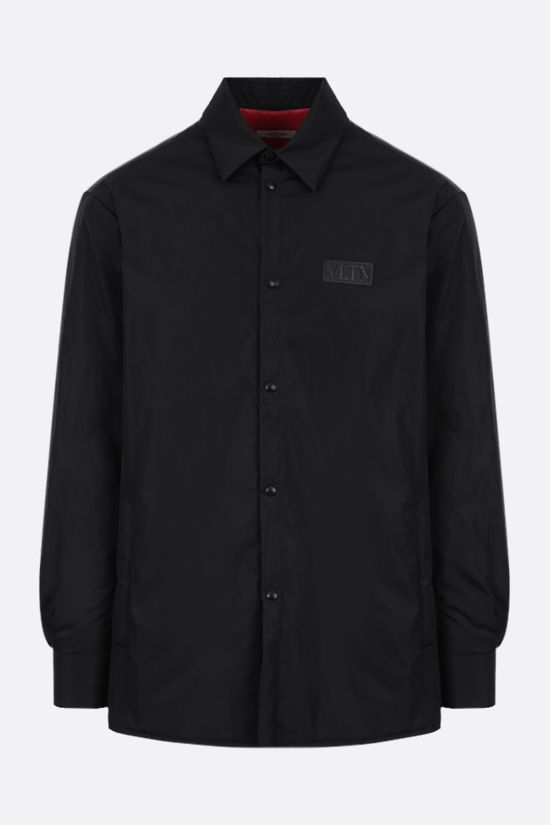 VALENTINO: VLTN TAG-detailed nylon padded overshirt Color Black_1