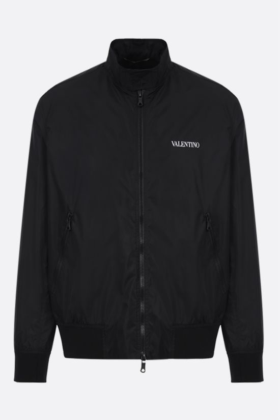 VALENTINO: Valentino print nylon bomber jacket Color Black_1