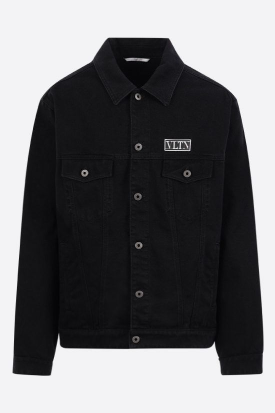 VALENTINO: VLTN TAG denim jacket Color Black_1