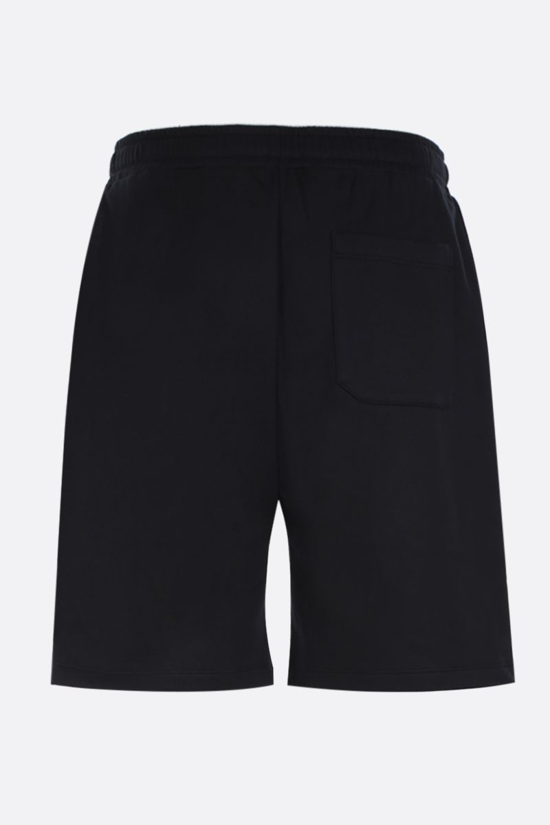 VALENTINO: VLOGO print cotton blend shorts Color Black_2