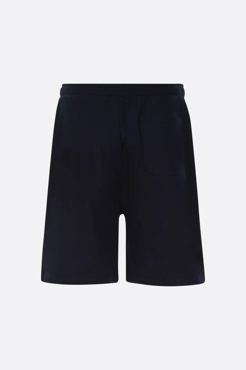 VALENTINO: VLOGO cotton blend shorts Color Blue_2