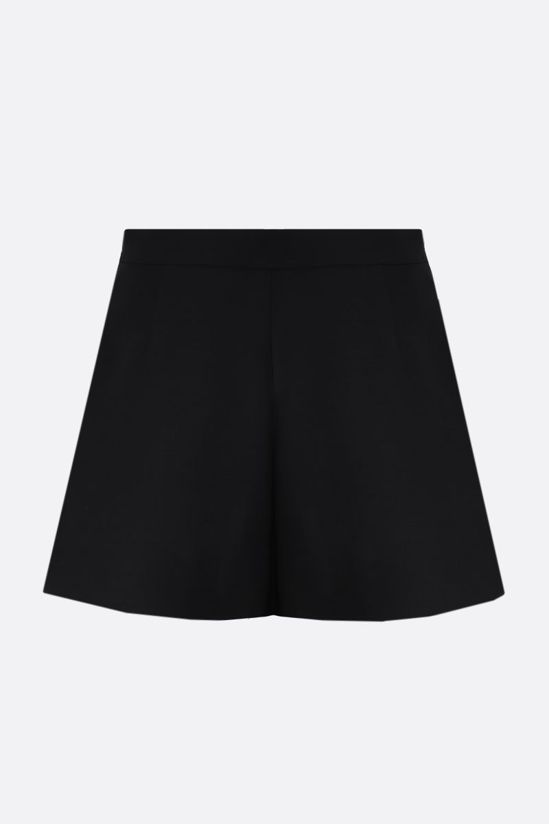 VALENTINO: V-detailed Crepe Couture shorts Color Black_2