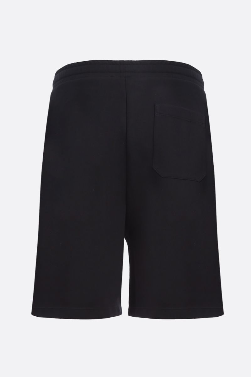 VALENTINO: VLTN TAG technical cotton shorts Color Black_2
