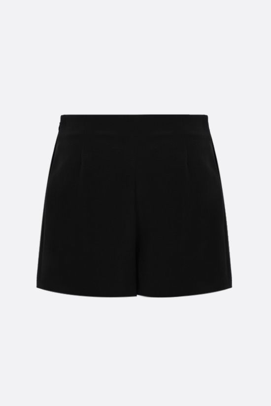 VALENTINO: silk wool blend shorts Color Black_2