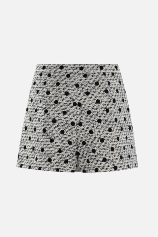 VALENTINO: Tweed Pois Floquè skort Color Neutral_2