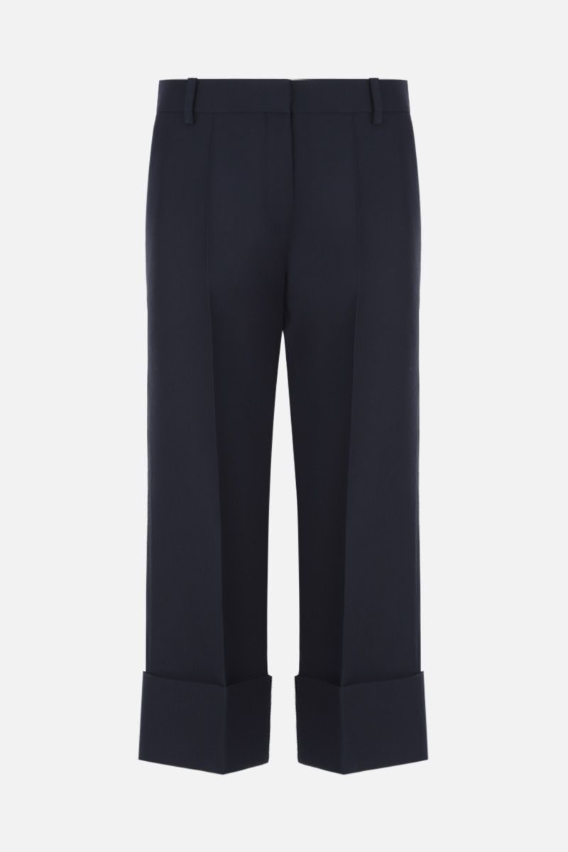 VALENTINO: pantalone cropped in Crepe Couture Colore Blu_1