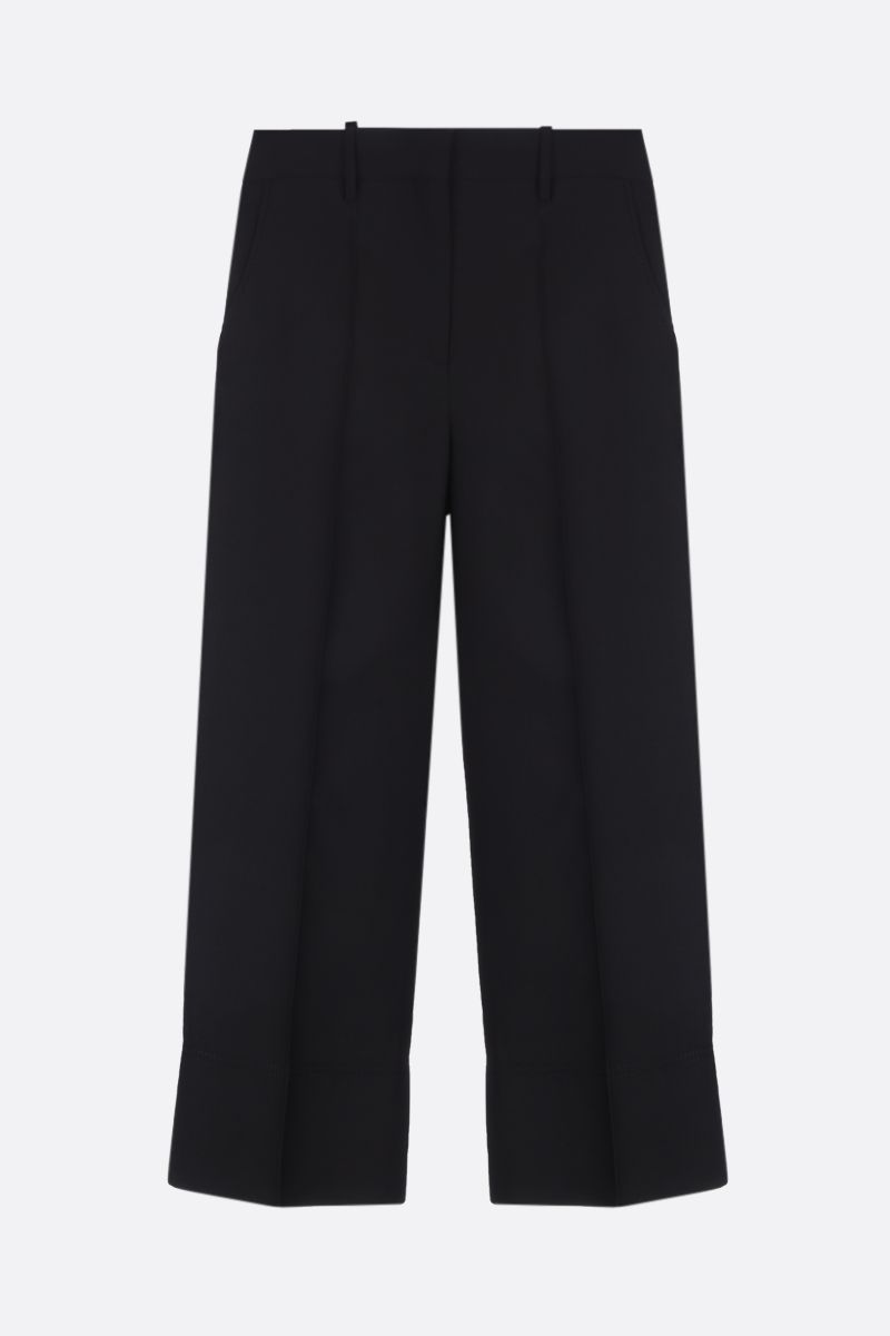 VALENTINO: cady cropped pants Color Black_1