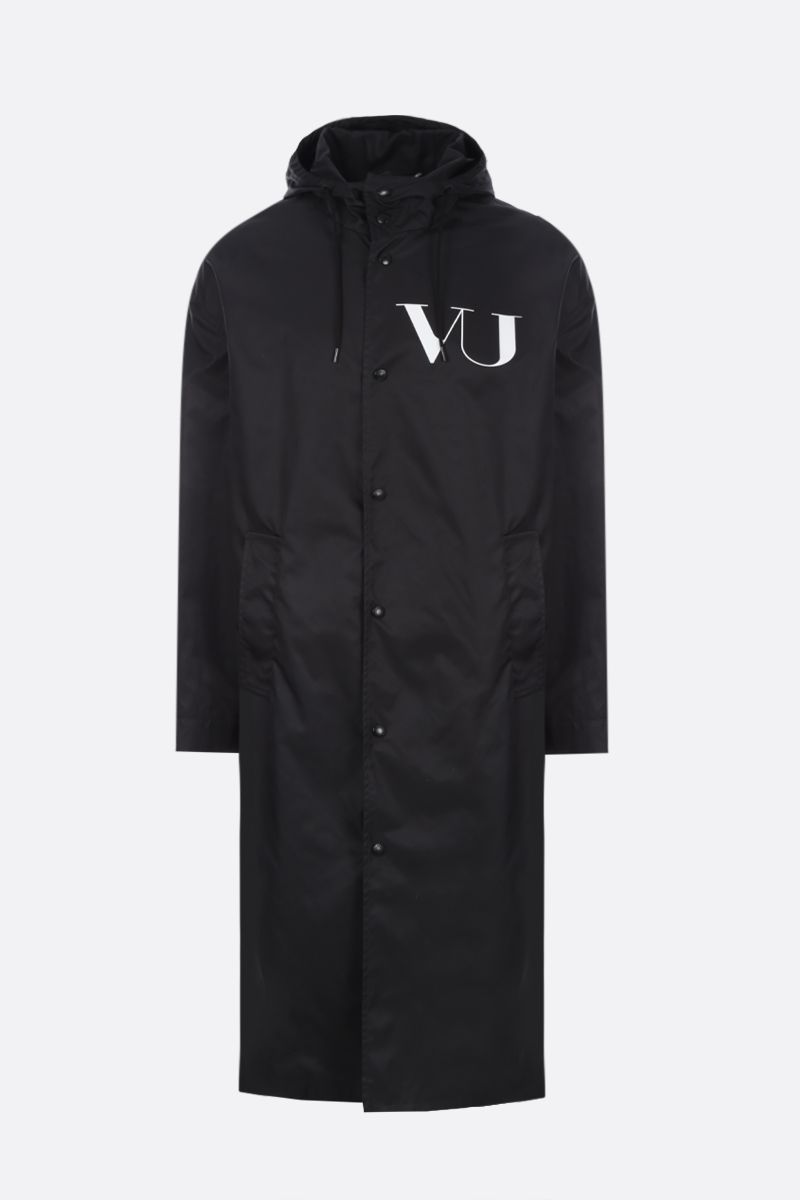 VALENTINO: UFO VU print nylon single-breasted parka_1