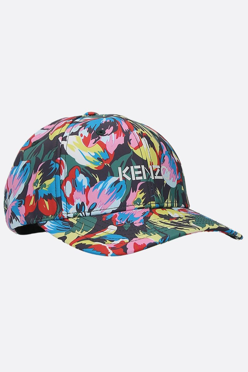 VANS X KENZO: cappellino baseball Tulipes in nylon Colore Nero_2