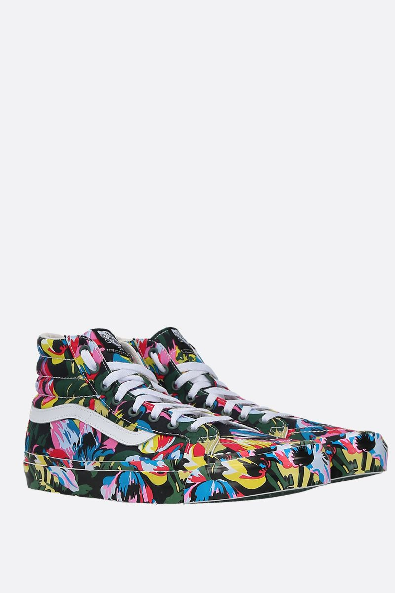 VANS X KENZO: SK8-Hi Tulipes canvas high-top sneakers Color Black_2