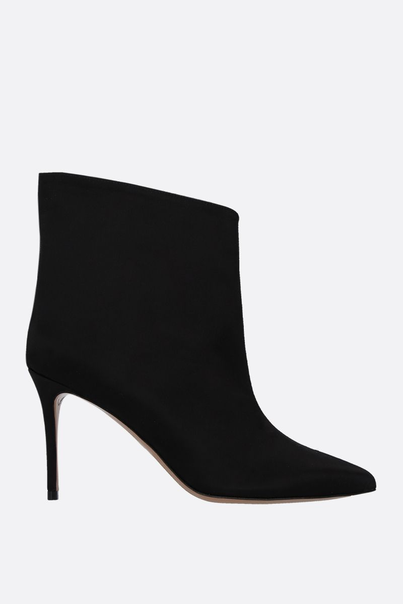 ALEXANDRE VAUTHIER: Alexlows satin booties Color Black_1