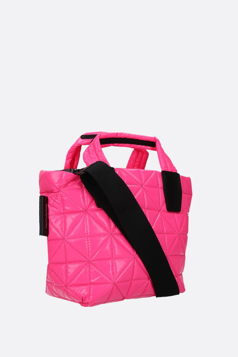VEE COLLECTIVE: borsa tote Vee mini in nylon resinato Ripstop Colore Rosa_2