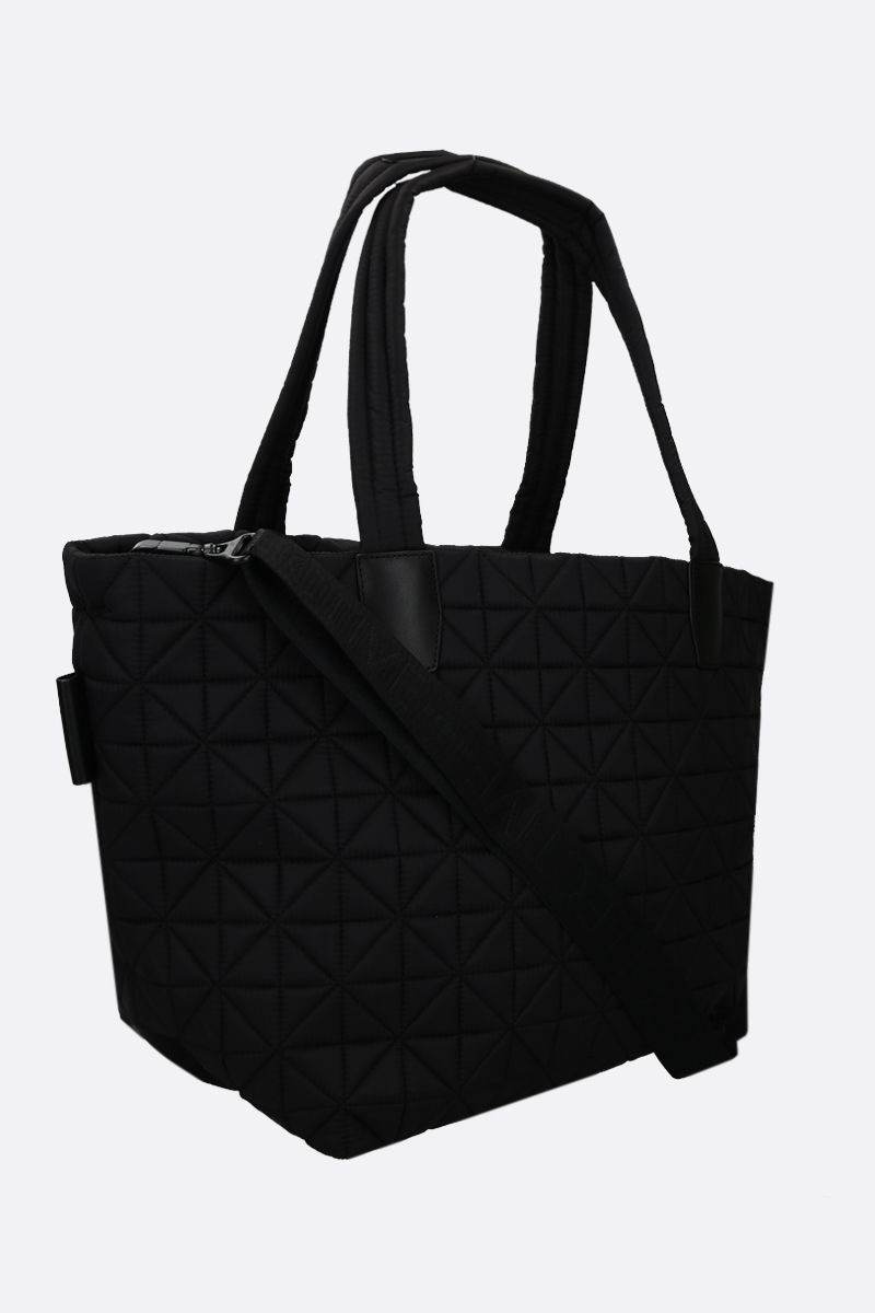 VEE COLLECTIVE: Vee medium Ripstop nylon tote Color Black_2